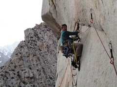 Rock Climbing Photo: Vic Lawson, the first time out the undercling pitc...