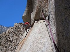 Rock Climbing Photo: Vic Lawson...FA of Blindspot 6-14-10