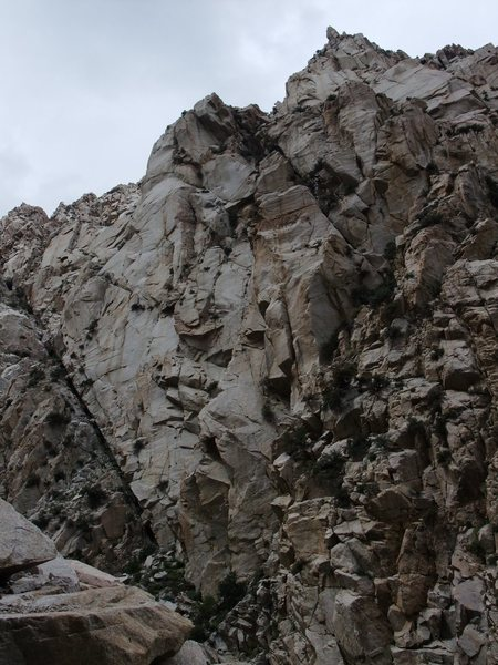 Blindspot Buttress from the approach