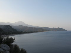 Rock Climbing Photo: View of the beach at Olympos from the trail to Cen...