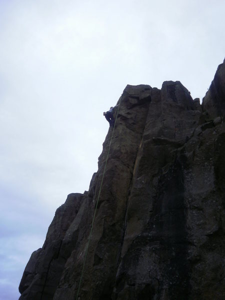 Rock Climbing Photo: almost to the anchor...