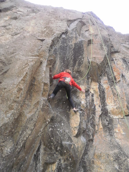 Rock Climbing Photo: moving left into the crack...