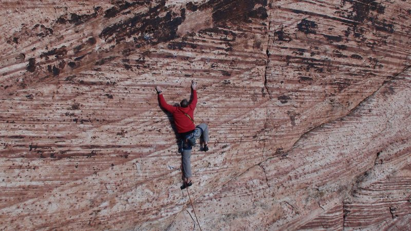 Rock Climbing Photo: Red Rocks Tiger Stripe Wall 10b 30 meters