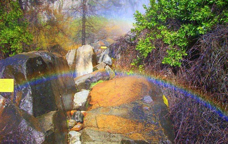Rock Climbing Photo: taste the reynnebow!