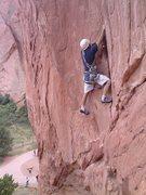 Rock Climbing Photo: Bill Weiss starts up Snuggles.