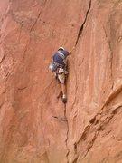 Rock Climbing Photo: Bill Weiss a little higher up on Snuggles.