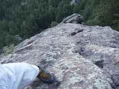 Rock Climbing Photo: Power-hiking the 2nd Flatiron in May.