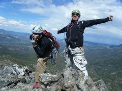 Rock Climbing Photo: On the summit of Hallet Peak, July 2010.