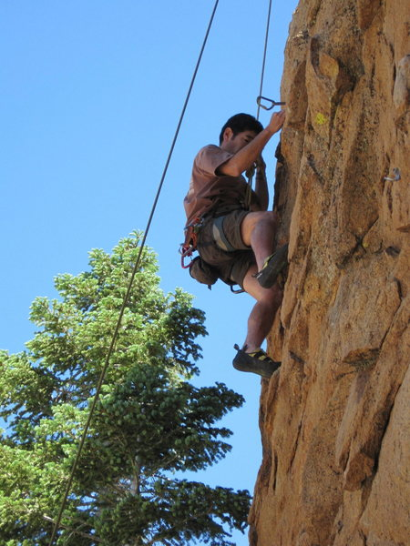 Rock Climbing Photo: Scott Nomi following Reach for the Sky.