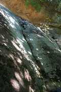 Rock Climbing Photo: Tom DeFilippo on the rock after a couple of years ...