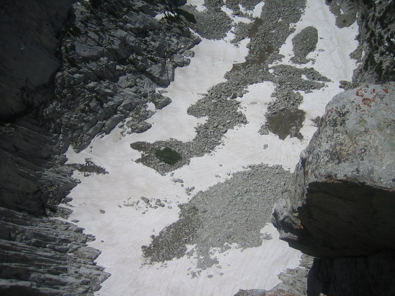 Snow in the Cirque, 4 July 2010.