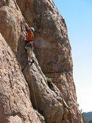 Rock Climbing Photo: Gold Standard (5.6), Holcomb Valley Pinnacles