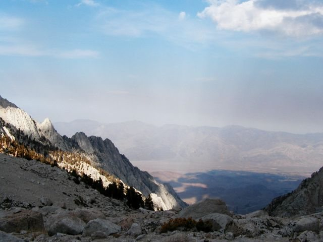 Rock Climbing Photo: The view back down from Upper Boyscout Lake, Mt. W...