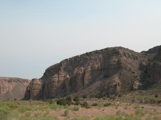 Rock Climbing Photo: Roadside cliffs near Caliente, NV