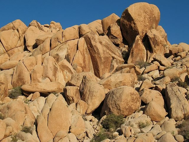 The obvious leaning corner is The Condor (5.12a), Joshua Tree NP