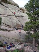 Rock Climbing Photo: Start of Glenn's First Name.
