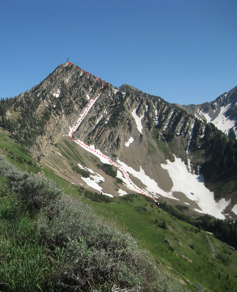 Beta pic of the route. Photo taken July 3, 2010.
