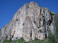 Rock Climbing Photo: Starts climbing on the east side of the buttress a...