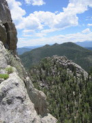 Rock Climbing Photo: Looking East from P2 of a route on Second Buttress...