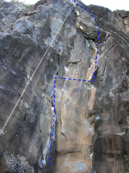 Rock Climbing Photo: The bottom half of Rainy Wish