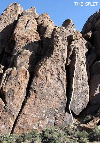 "Rock Climbing Photo: ""The Split"". Photo by Blitzo."