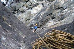 Rock Climbing Photo: John Bestfather keeping his cool above a sea of sh...