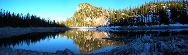 Alpine lake below Roughneck Peak.