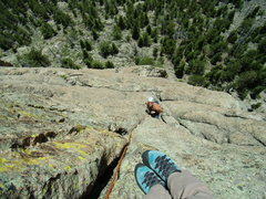Rock Climbing Photo: Bill D - on Grapevine - Lumpy Ridge.  End of June ...