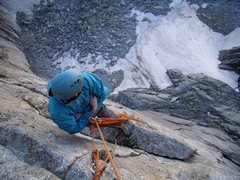 Rock Climbing Photo: Jordon looks out from the Black Wall.  July 5th 20...