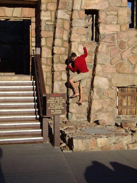 Rock Climbing Photo: Jordon demonstrating exceptional reading skills.  ...