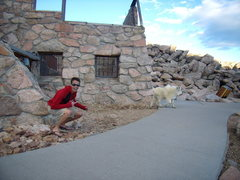 Rock Climbing Photo: Jordon has some real issues with lovable goats for...