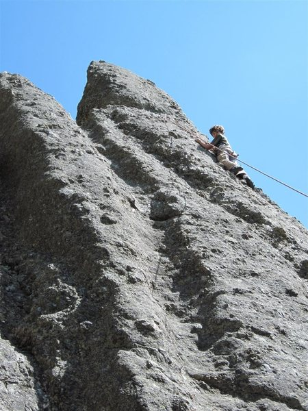 Rock Climbing Photo: My son Aidan with a good TR