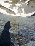 """Rock Climbing Photo: Jeff G. is following the runout """"Creme Brulee..."""