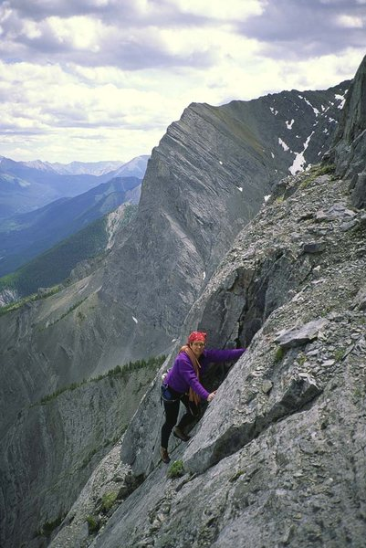 Rock Climbing Photo: Fran Bagenal. Pitch 6 or 7?????