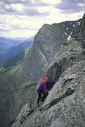 Rock Climbing Photo: Fran Bagenal. Pitch 6 or 7?????