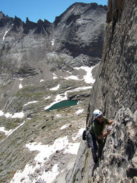 Rock Climbing Photo: Jeff G. is following the Half-Circle pitch with Gr...