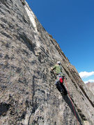 Rock Climbing Photo: Jeff G. is in the tricky section after the 2nd bol...