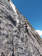 Rock Climbing Photo: The final crux move is entering the dihedral above...