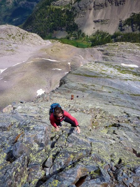 Super fun scrambling on solid rock is the name of the game on Wham Ridge. July, 2010.