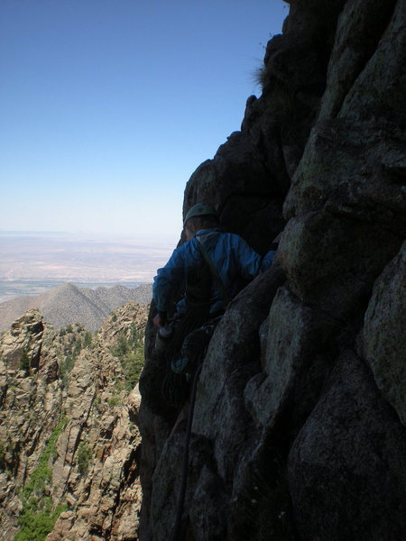 Rock Climbing Photo: top of pitch 2