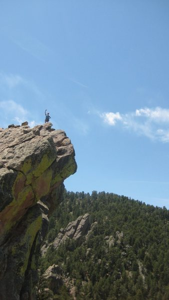 Rock Climbing Photo: First Flatiron.