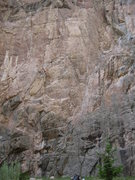Rock Climbing Photo: Rope hanging on Light Tension (right of center).