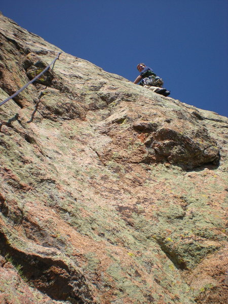 Rock Climbing Photo: beginning of pitch 6