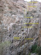 Rock Climbing Photo: Spider Pig from the base to the top. Showing all p...