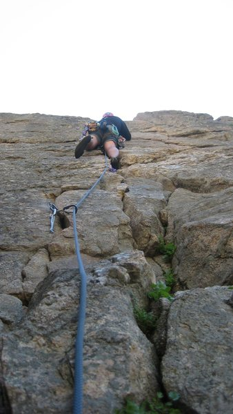 Shane Irons leading the third pitch of the Empor.