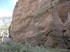 Rock Climbing Photo: view of tunnel wall, Bitch with broomstick follows...