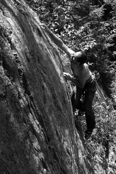 Rock Climbing Photo: jakob finishing a lap on this classic... the top 1...