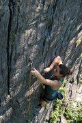 Rock Climbing Photo: hannah clipping the last bolt