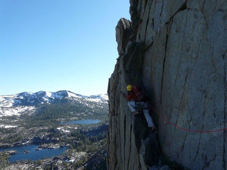 Rock Climbing Photo: Making my way towards the very edge for an excitin...