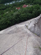 Rock Climbing Photo: Looking down the arch on Standard Route from &quot...